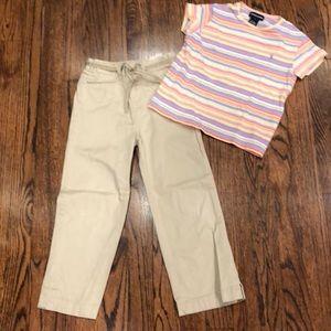 Ralph Lauren girls pants and shirt